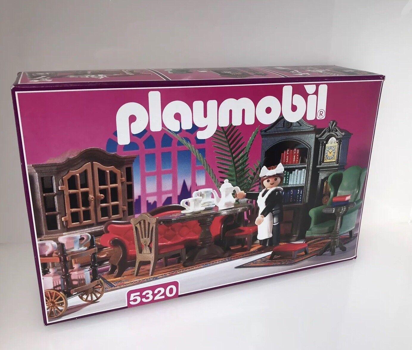 Playmobil Victorian Mansion Furniture Furniture Furniture 5320 Vintage Dolls House Living Room Boxed b154ff