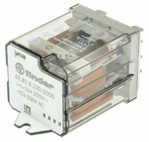 16 A 230V ac Coil Finder DPDT Non-Latching Relay Plug In