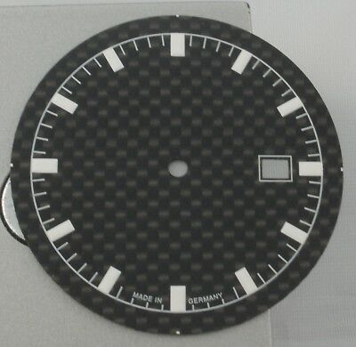 2836-2 AUTOMATIC 34.5mm CLASSIC SILVER BLACK SWISS MADE DIAL FOR ETA 2824-2