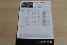 86228) Citroen C5 Kombi - Preise & tech. Daten & Ausstattungen - Prospekt 08/200