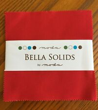 Patchwork Quilting 5 Inch Squares Moda Fabric Charm Pack Bella Solids Navy