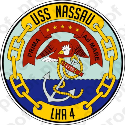 STICKER USN US NAVY LHA 4 USS NASSAU