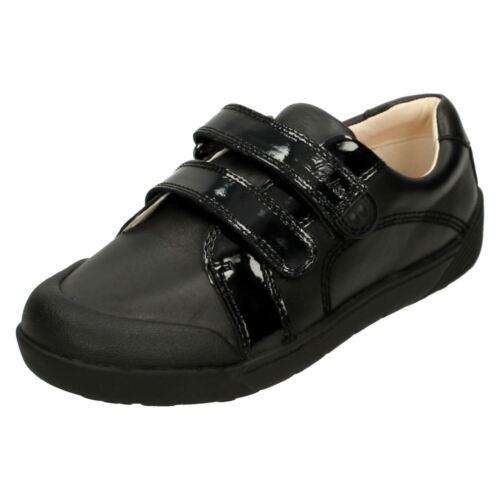 Folk escolares niñas para Clarks doble 'lil Zapatos correa Bel' negro nv1qgxaww
