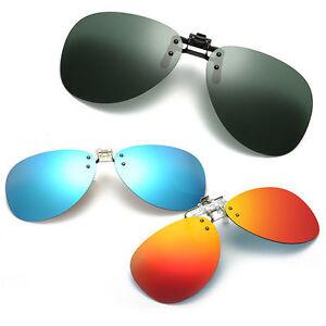 Mirror-Pilot-Polarized-Sunglasses-Night-Vision-Lens-Polaroid-Sun-Glasses-Flip-Up