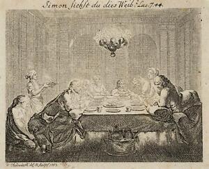 Chodowiecki (1726-1801). la büssende Magdalena; pressione grafico 1