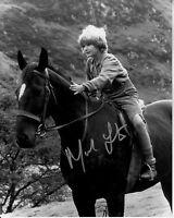 MARK LESTER hand-signed BLACK BEAUTY 8x10 w/ uacc rd coa CLOSEUP ON HORSEBACK