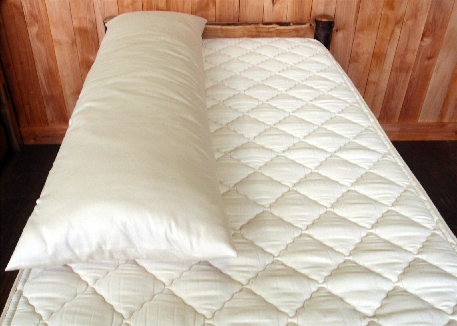 Holy Lamb Organic Cotton & & & Natural Wool Body Pillow   17  x 53    Made in USA 0b86e7