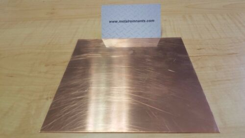 "Set of 4 .125 1//8/"" Copper Sheet Metal Plate 2/"" x 4/"""