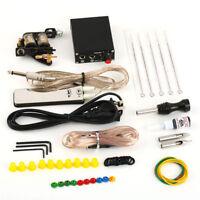 Complete Tattoo Kit Set Equipment Machine Needles Power Supply Gun Inks ZQ