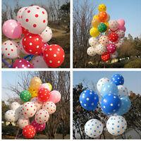10Pc Round Helium Polka Dot Latex Balloons Birthday Party Wedding Decoration DSU