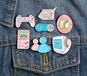 Video-Game-Arcade-Retro-Nostalgia-Enamel-Pin-Pins-Badge-Badges-Funny-Quotes