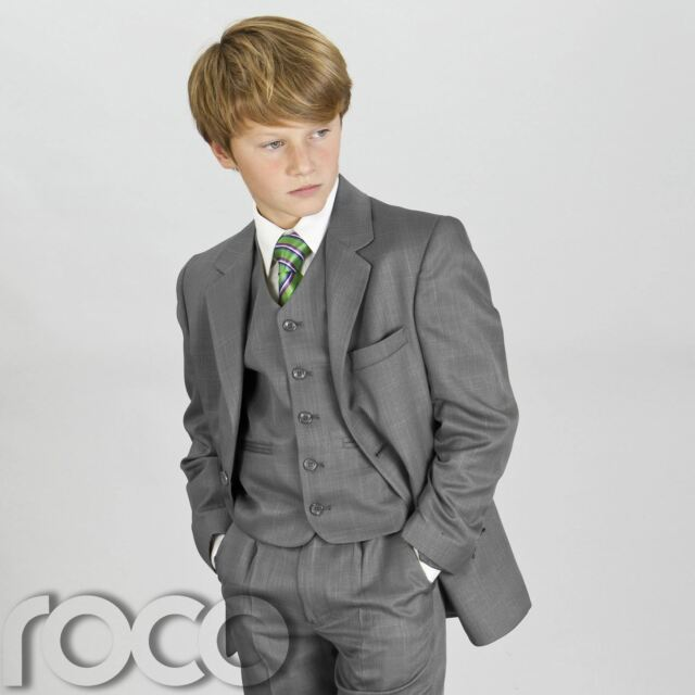 Boys Grey Suit, Page Boy Suits, Boys Prom Suits, Boys Wedding Suits, 1-16 years