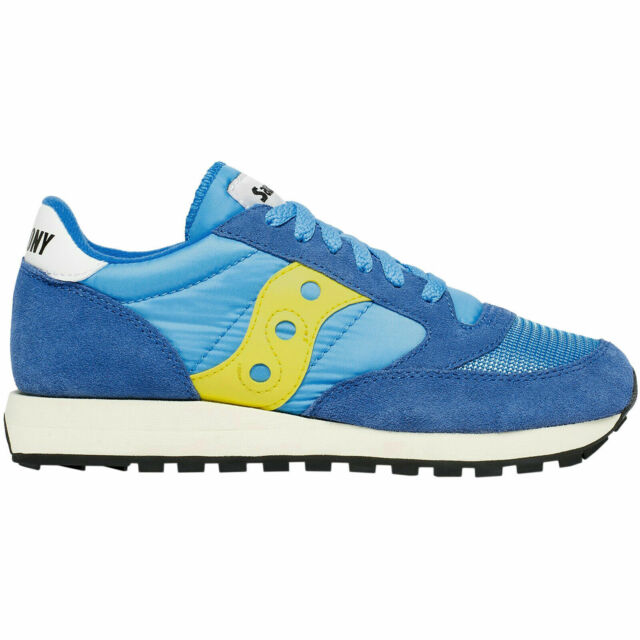 competitive price f5146 3a310 Saucony Men's Jazz Original Vintage Suede Mesh Lace-Up Low-Top Sneakers Blue