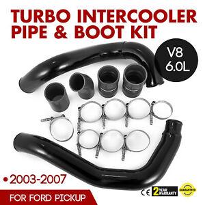 Turbo Intercooler Pipe Boot Kit Black For 03-07 Ford V8 Turbo Diesel Engines