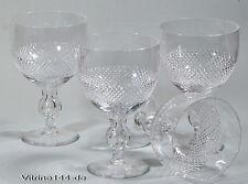 4 antike Weingläser XL Diamantschliff Handarbeit Luftblase Trinkgläser 0,5l