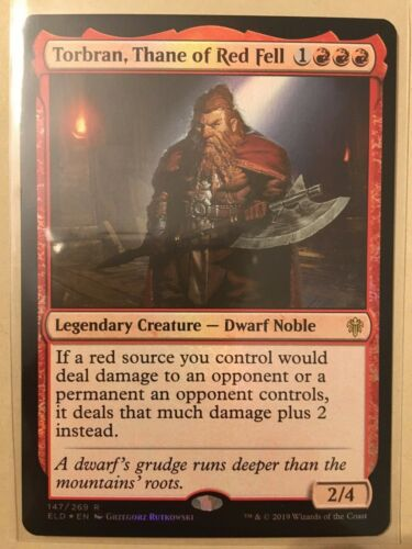 English Regular Torbran Thane of Red Fell Throne of Eldraine 1x NM-Mint