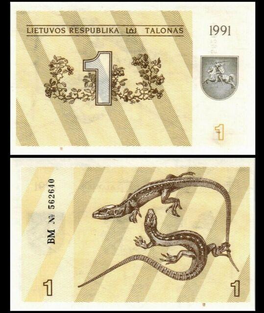 LITHUANIA 1 TALONAS 1991 P 32 UNC