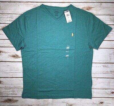 NWT-Mens Ralph Lauren Polo Vee Neck Classic Short Sleeve Shirt Sz Medium