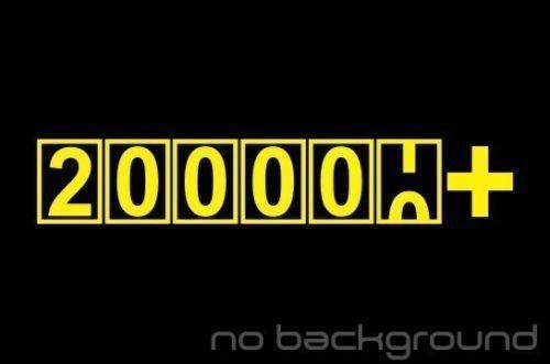200000 Miles Sticker Vinyl Decal High Mileage Km Car Window Funny FCK JDM