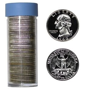 Roll of 40 Choice To GEM Proof 1962 Washington Quarters Some Cameos Included
