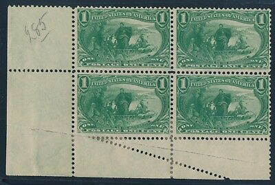#285 Var 1c Trans-miss Major Foldover Error Scarce Re-enforced Blk/4 Bu5577 Mooi Van Kleur