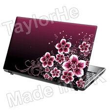 """17"""" Laptop Skin Sticker Decal Pink Floral Vintage 143"""