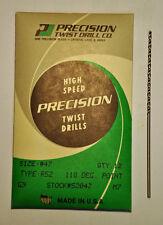 """Precision Twist Drill #56 .0465/""""  1.181 mm HSS Taper Length Drill 6 pcs New USA"""