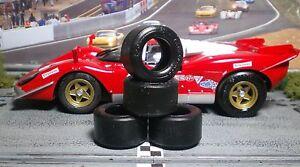 1/24 PAUL GAGE URETHANE SLOT CAR TIRES  2pr fit Carrera D124 Ferrari 512S