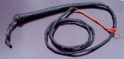 bull whip 6  foot long !  Black leather! Brand new