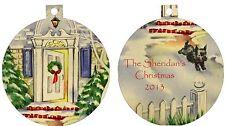 Personalized Ornament custom gift idea merry christmas New home family nice idea