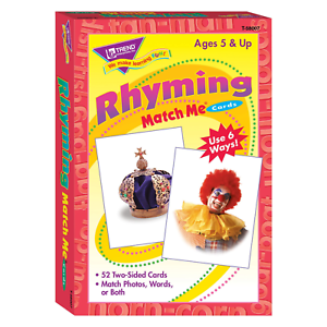 Rhyming Match Me Puzzle Educational Card Game - Home Learning - For Age 5+