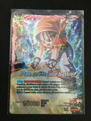 prete à se battre BT3-001 Dragon Ball Super Card Game  Pan