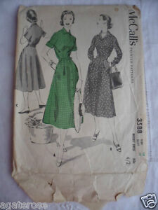 vintage-McCall-1940s-sewing-dressmaking-dress-pattern-No-3588-cut-but-complete