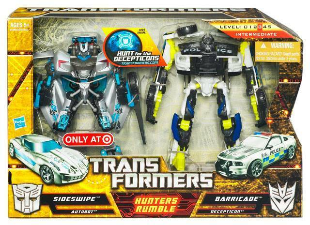 Transformers Hunters Rumble Sideswipe Vs. Barricade Target Exclusive See details