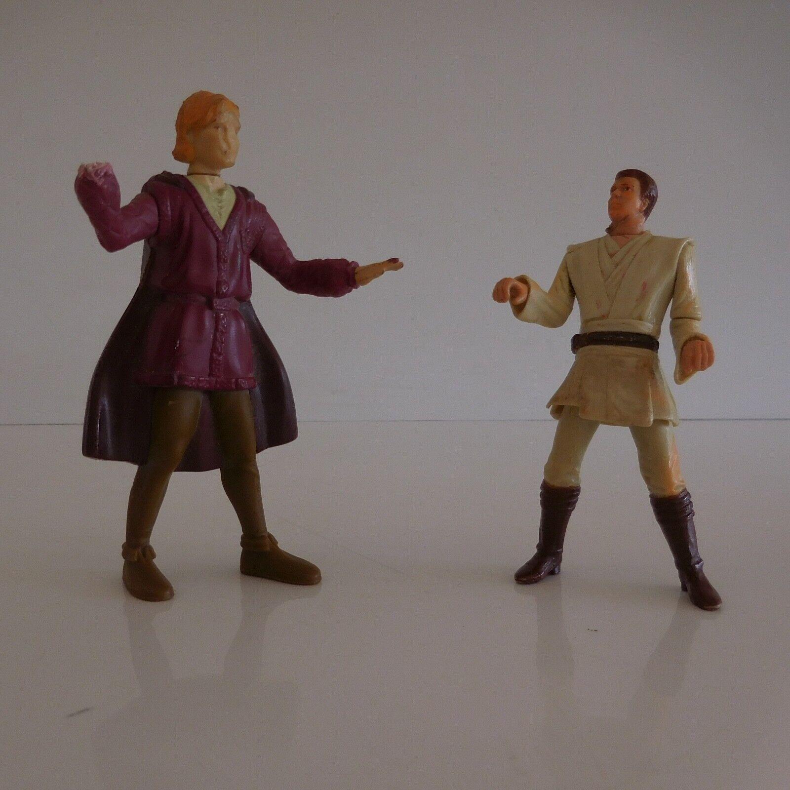 2 figurines personnages jouets vintage collezione art déco design PN France