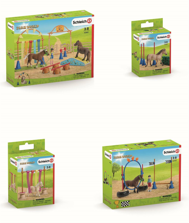 Set 1  Schleich - Pony Traningsset - Pferde Bauernhof - Farm World Horse Club  | Ausgezeichnete Qualität
