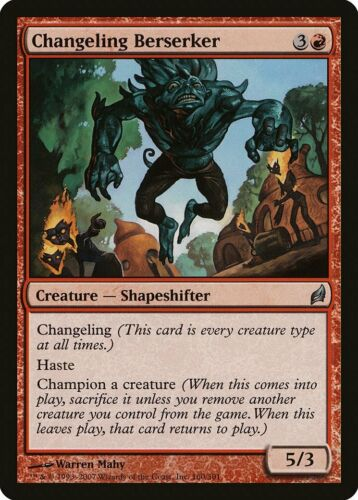 Changeling Berserker Lorwyn NM Red Uncommon MAGIC THE GATHERING CARD ABUGames