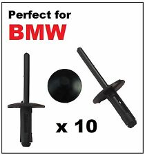 10 x 6mm BMW PLASTIC POP RIVETS for WHEEL ARCHES SIDE SKIRTS SILLS BUMPER