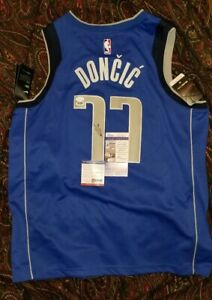sale retailer 928f6 f8ff0 Details about LUKA DONCIC signed auto MAVERICKS NBA Swingman Jersey Sz 52 X  Large PSA JSA