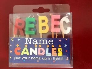 Image Is Loading Alphabet REBECCA Name Birthday Candles Personalized Put Their