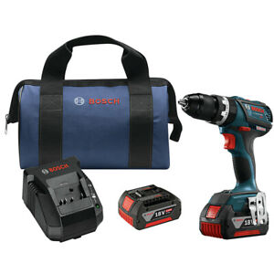 Bosch HDS18301RT 18V 4.0 Ah Li-Ion Tough 1/2 in. Hammer Drill Driver Kit Recon