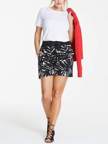 NEW ex Capsule BLACK /& WHITE Leaf Linen Blend Slouch Shorts 16 20 24 26 28 30 32