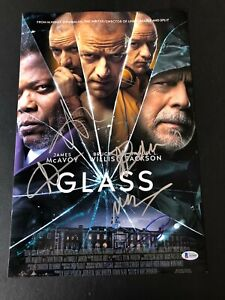 GLASS-BRUCE-WILLIS-SIGNED-12X18-PHOTO-AUTHENTIC-AUTO-JAMES-MCAVOY-3-BECKETT