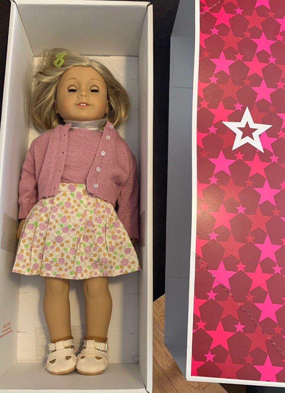 American Girl Kit Kittrotge 18  Doll w  Sweater Outfit schuhe Book & Box