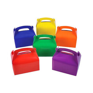 Details About 12 Assorted Bright Color Treat Boxes Birthday Party Favors Baby Shower Favor Box