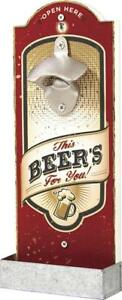 Wall-Mounted-Bottle-Opener-with-Cap-Catcher-Grand-Star-Great-Gift-for-Men