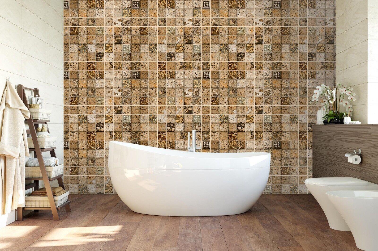3D Stone Mosaic 5 Texture Tiles Marble Wall Paper Decal Wallpaper Mural AJ