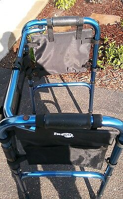 Hugo Folding Walker Sapphire Blue Supports up to 300 lbs Model # 007010