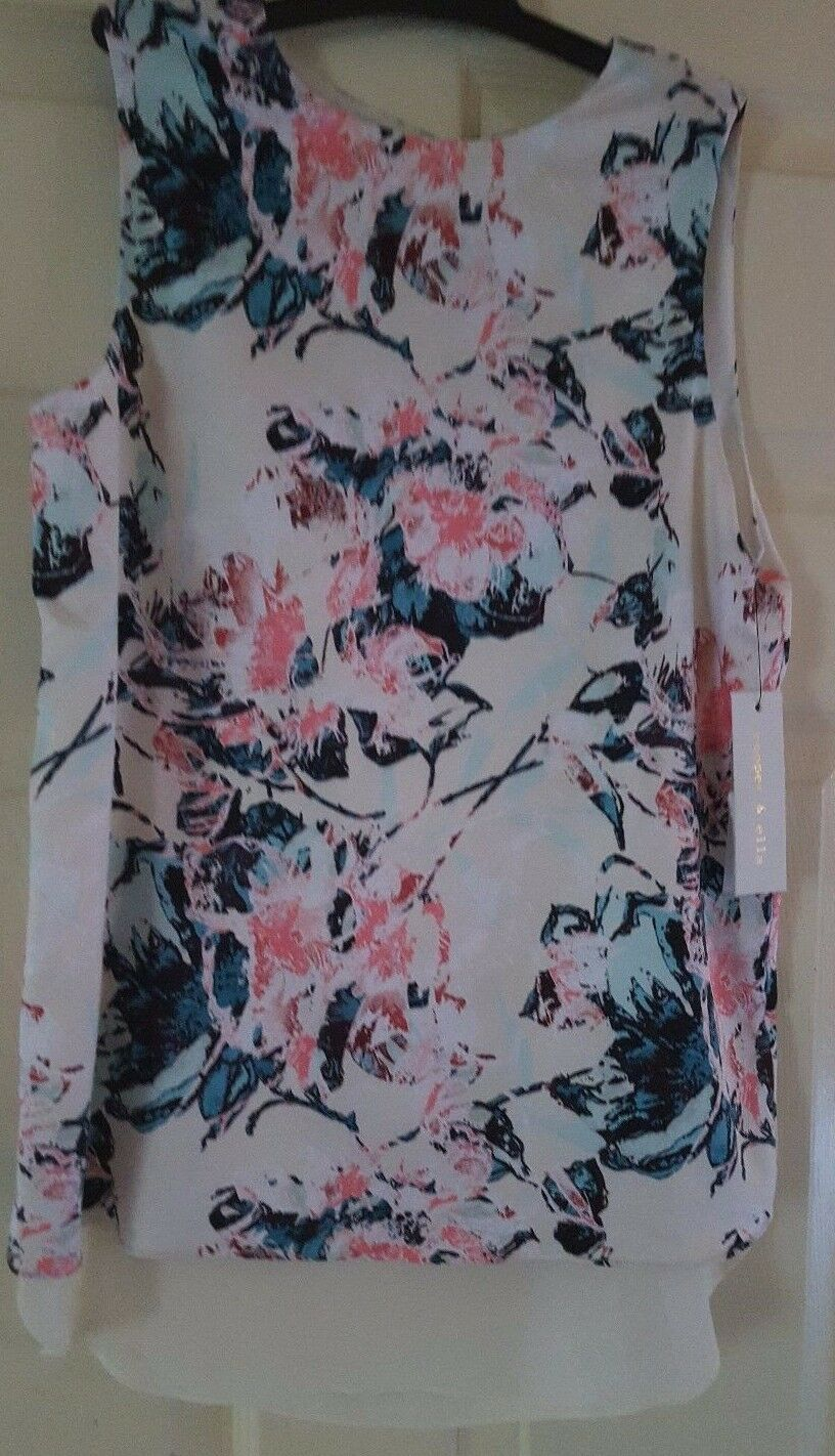 Cooper & Ella Avery Tank VintageFloral Top XS With Tag MSRP 70%off very cute