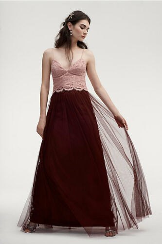 b2c9cd389ec 4 of 5 New Anthropologie Bhldn  220 Cabernet Louise Tulle Skirt By Jenny Yoo  Sz 0
